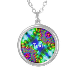 Trippy Fractal Abstract Necklace