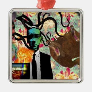 Trippy Frankenstein Art Christmas Ornament