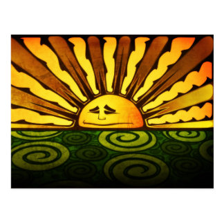 Trippy Sun Postcard