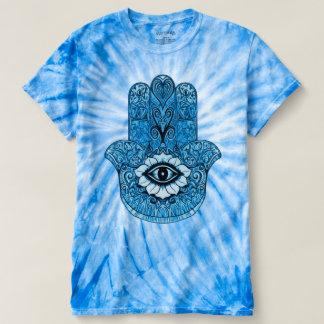 Trippy Tie Dye Astral Hamsa Symbol T-Shirt