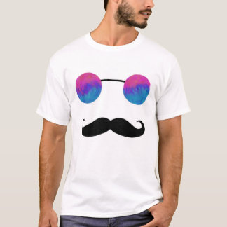 Tripster and 'Stache (Pink and Blue) T-Shirt