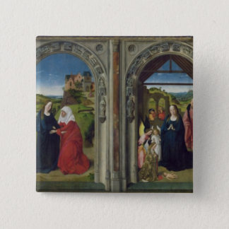 Triptych showing the Annunciation 15 Cm Square Badge