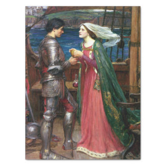Tristan and Isolde by John William Waterhouse Tissue Paper