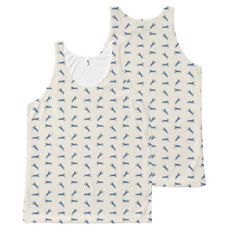 Tritty Trotter Navy and Cream All-Over Print Singlet