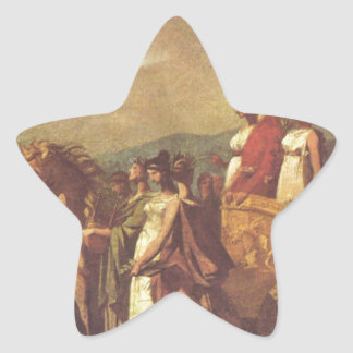 Triumph of Bonaparte and Peace by Pierre-Paul Star Sticker