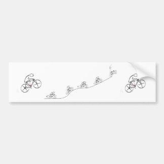 Triumphant Bicyclist - Bumper Sticker
