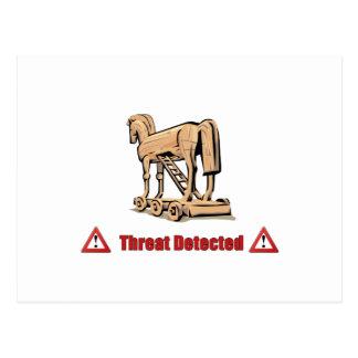 Trojan Threat Detected Postcard