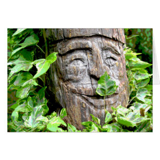 Troll Carving with Ivy Cards