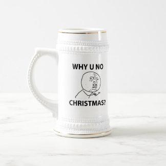 Troll LeMe Memes troll WHY YOU NO CHRISTMAS Beer Stein