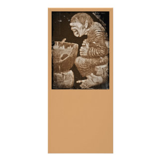 Troll with Giant Cauldron Custom Rack Card