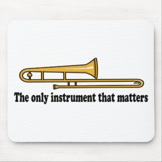 Trombone Attitude Mouse Pad