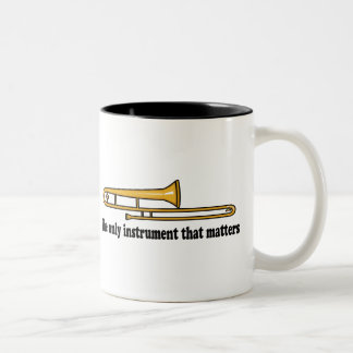 Trombone Attitude Two-Tone Coffee Mug