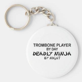 Trombone Deadly Ninja by Night Key Ring