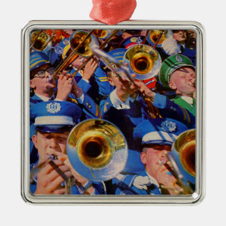 trombone mob AKA band geeks gone wild Christmas Ornament