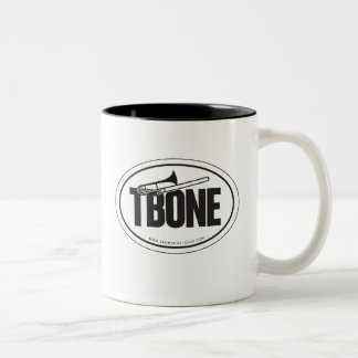 Trombone oval-sticker mug