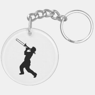 """""""Trombone player"""" design gifts and products Key Ring"""