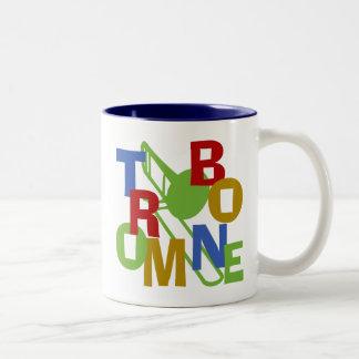 Trombone Scramble Two-Tone Coffee Mug