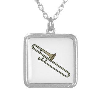 Trombone Square Pendant Necklace