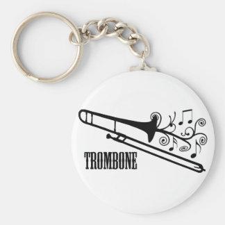 Trombone Vector Design Key Ring
