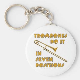 Trombones Do It In 7 Positions Key Ring