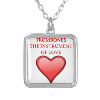 TROMBONES SILVER PLATED NECKLACE