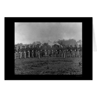 Troopers with Sabers at Brandy Station, VA 1864 Card