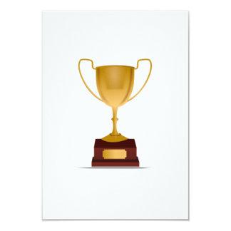 Trophy 9 Cm X 13 Cm Invitation Card