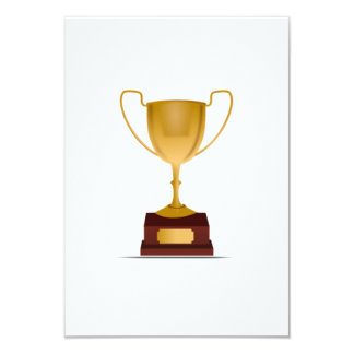 Trophy 9 Cm X 13 Cm Invitation Card