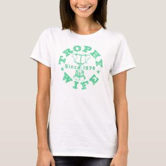 Trophy Wife Since 1974 green T-Shirt