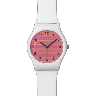 Tropical Abstract Pastel Stripes Watch