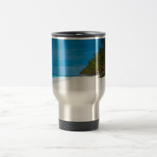Tropical Beach in Barbados Travel Mug