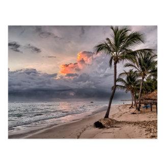 Tropical beach in the Caribbean Postcard