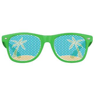 Tropical Beach Palm Tree Wedding Favor Sunglasses