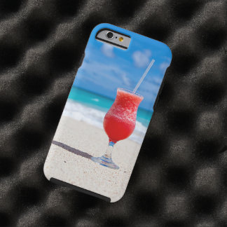 Tropical Beach Summer Red Strawberry Margarita Tough iPhone 6 Case