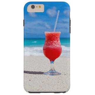 Tropical Beach Summer Red Strawberry Margarita Tough iPhone 6 Plus Case
