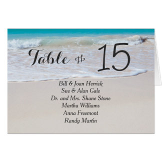 Tropical Beach Wedding Tented Table Cards