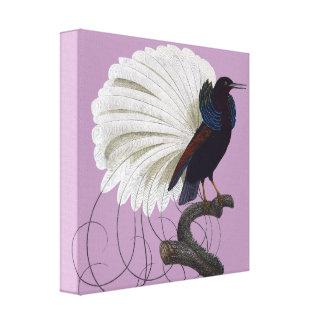 Tropical bird canvas