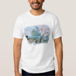 Tropical birds in a landscape tees