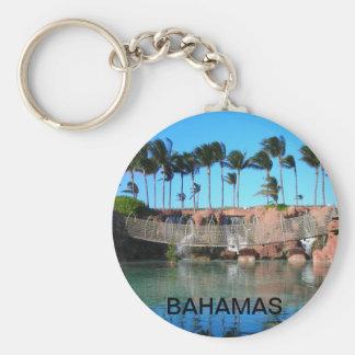 Tropical Bridge Basic Round Button Key Ring
