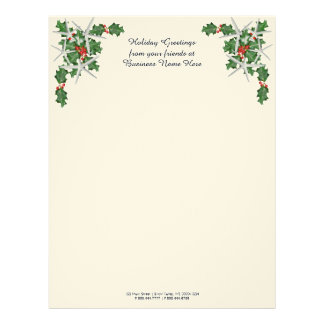 Tropical Christmas Customer Greeting Text Personalised Letterhead