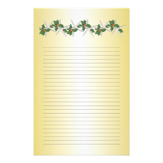 Tropical Christmas Gold Lined Writing Paper Personalised Stationery