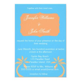 Tropical Colors Destination Wedding Invitations