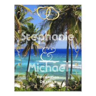 Tropical Destination Wedding Reception Card