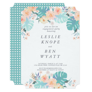 Tropical Engagement Invitation
