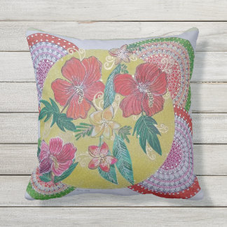 Tropical feast throw pillow