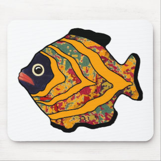 Tropical Fish-18 Orange Gold Red & Green Mouse Pad