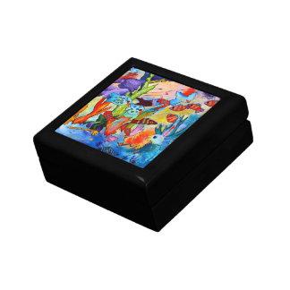 Tropical Fish Box Small Square Gift Box