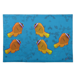tropical fish orange placemat