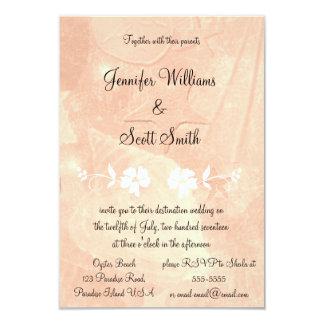 Tropical Floral Destination Wedding Invitations