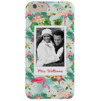 Tropical Flowers And Birds | Add Your Photo & Name Barely There iPhone 6 Plus Case